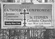 St. Stephen's billboard put the church in a - compromising position.