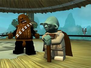 Star Wars blockheads Chewie and Yoda.