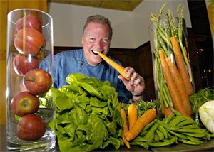 Steve Schimoler sees a day when more restaurants will serve locally grown veggies. - WALTER NOVAK