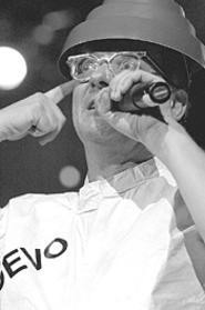 Still cranking out the weird: Devo's Mark Mothersbaugh at Scene Pavilion, August 18. - WALTER  NOVAK
