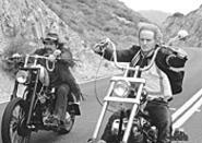 Stiller and Wilson in their Easy Rider scene.