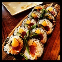 The 10 Best Sushi Restaurants In and Around Cleveland Sushi Rock still has the best sushi happy hour with their Tsunami Night. Every Thursday, almost every sushi roll is half price. Photo Courtesy of Ginko, Website