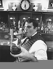 Swing, baby: Koukla's owner George Harouvis. - WALTER  NOVAK