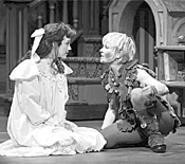 The ageless Cathy Rigby (right) still enchants - audiences as the boy who won't grow up.