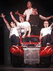 The boys from Rydell profess their love for Greased Lightning.