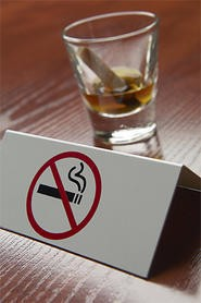 The fine for smoking pot in a bar is now less than for smoking a cig.