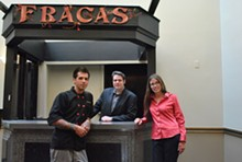 The Fracas brain trust: Chef Dick Kanatzar, GM Aaron VanDerlin, and owner Marci Carpenter (from left).