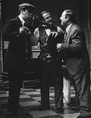The joke's on them: John Busser, Tom Meyrose, and Scott Spence (from left).