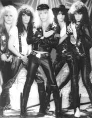 The legacy of big hair and leather: Warrant, circa - 1989.