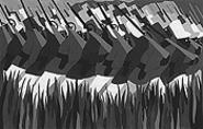 """""""The March,"""" by Toussaint L'Ouverture, screenprint."""