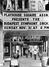 The marquee at the Allen.