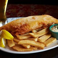 10 Cleveland Fish Fries Worth a Visit this Season The new eastside hot spot is doing this British comfort food right. A giant piece of haddock is beer battered, fried golden brown, and served with a killer house made tartar and steak fries. Photo via the Cleveland Scene Archives