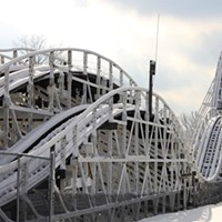 20 Photos of Snowy Ohio Amusement Parks The Racer at Kings Island, December 2013 Photo via Cedar Point, Facebook