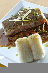 The seared yellowtail tuna and fixin's should float your boat. - WALTER  NOVAK