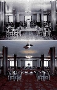The Silver Grille as it appeared in 1931(top) . . . - and today (below).