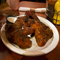 The 10 Best Chicken Wings in Cleveland The smoked wings at Lagerhead's Smokehouse & Brewery are well worth the trip to Medina. Smoked low and slow, these whole wings are both dry rubbed and grilled. We endorse the garlic Parmesan to finish. Lagerhead's Smokehouse & Brewery is located at 2832 Abbeyville Rd, Medina. Call 330-725-1947 for more information. Photo Courtesy of Tilted Kilt, Facebook
