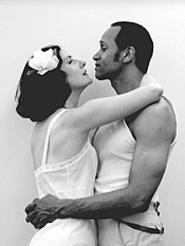 Things get steamy for Bernadette Clemens and Jim Weaver - in Ensemble Theatres Anna in the Tropics.