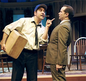 This cigar's gone stale: Ken Forman (left) and Todd Faulkner in Carousel's The Odd Couple.