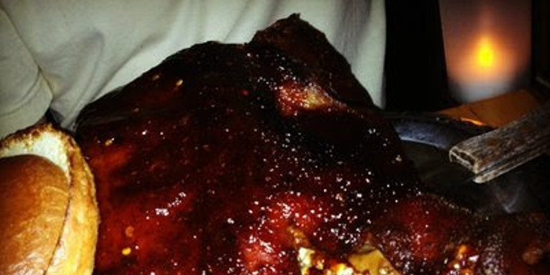 9 Wild Cleveland Eats for the Adventurous Local Foodie This is an entire roasted pig's head staring back at you. Complete with BBQ sauce and a raw vegetable salad. Don't knock it till you try it, the various components are quite tasty! Photo via Yelp