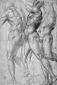 """Three Male Nudes,"" by Jacopo Carucci (Il Pontormo)."