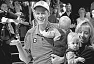 To provide for his wife and newborn twins, Chris - Barnes travels the bowling circuit while they wait at - home.
