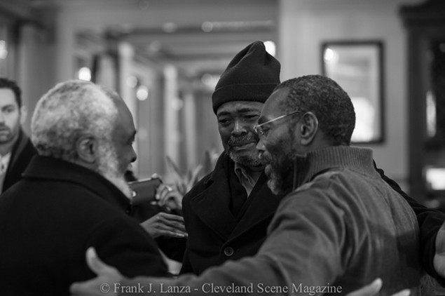 Together again. Wiley Bridgeman (left), Kwame Ajamu (center) and Ricky Jackson (right). - PHOTOGRAPHY BY FRANK J. LANZA; FRANKJLANZA.COM