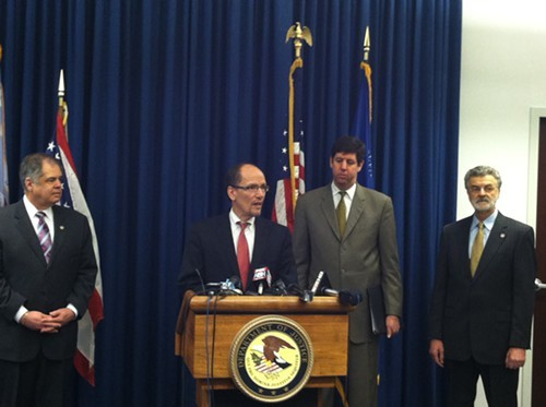 Tom Perez, assistant attorney general for the Civil Rights Division, announces the investigation into the Cleveland Police Department.