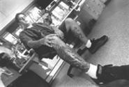 Tony DeRigo sits down for the cause. - WALTER  NOVAK