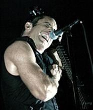 Trent Reznor, putting his all into his angst at the Q. - WALTER  NOVAK