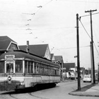 20 Photos of Old Cleveland Streetcars Turning onto Lansing Avenue, circa 1930-59 Cleveland Memory Project