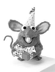 Tutter, the lucky birthday mouse at the center of - Surprise Party.