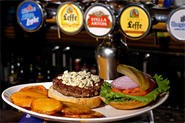 Twenty-eight brews on tap complement dishes like the Ballantine Burger ($9). - WALTER NOVAK