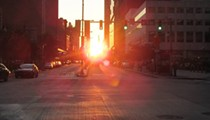 'Euclidhenge' Illuminates Euclid Ave. as Sunset Aligns With Street