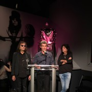 Alice Cooper Appears at the Rock Hall to Officially Open the New Pinball Machine Exhibit