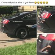 Someone Stuck a Dildo on a Cleveland Police Cruiser