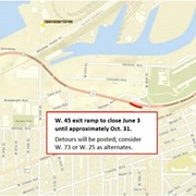 The Shoreway's W. 45th Exit Ramp is Closing for At Least Five Months Due to Sewer Project
