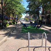 Ohio City's Market Avenue Pop-Up Pedestrian Park Closing After Three Months