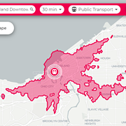 New App Lets You Visualize Cleveland Travel Times for Biking, Walking, Public Transit