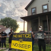 Youth Demonstrated Outside Mayor Frank Jackson's House at 6 a.m.