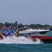 A Trump Boat Parade Brings Hundreds of MAGA Supporters to Lake Erie Today