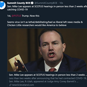 "Summit County Board of Elections Is Sorry About the Coronavirus ""Isn't As Lethal as Liberal Left News Media and Chicken Little Researchers"" Believe Tweet"