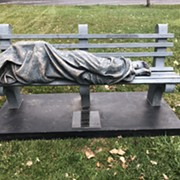 In Bay Village, Someone Called Cops on a Sleeping Homeless Person. It was a Statue of Jesus.