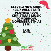 105.7 Flipping to All Christmas Music Today Because It's Time for Something Nice Already Dammit