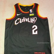 Cavs New Serial Killer Ransom Note Jersey is Actually Homage to Rock Hall Bands, Remains Ugly