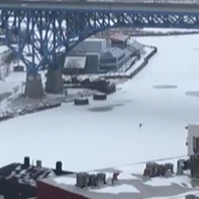 Skating on the Cuyahoga and Poopin on the Lake — How Cleveland's Enjoying the Frozen Tundra