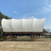 Live Out Your 'Oregon Trail' Camping Fantasy in This Vintage Conestoga Wagon in Hocking Hills