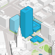 """Sherwin Williams HQ Proposal Includes 36-Story Skyscraper, Two-Story """"Pavilion"""" on Public Square"""