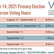 Early Voting in Cleveland Mayoral Primary Begins Today