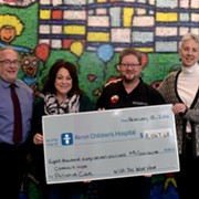 Local Rockers Wish You Were Here Present Check to Akron Children's Hospital and Cassidy's Hope Foundation
