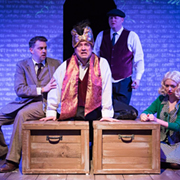 "Madcap Spoof of Alfred Hitchcock's ""The 39 Steps"" Delivers With Jam-Packed First Act"